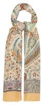 Etro Paisley-print Silk Scarf - Womens - Multi