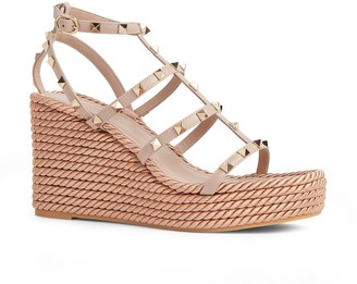 Valentino Rockstud Wedge Sandals 95