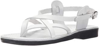 Jerusalem Sandals Women's Tamar Backle Gladiator Sandal White 36 EU/5 M US