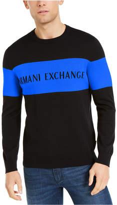 Armani Exchange Men Hyperbright Logo Sweater