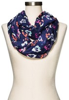 Merona Women's Floral Infinity Scarf Navy
