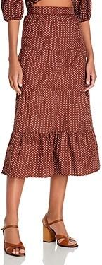 Faithfull The Brand Farida Printed Midi Skirt