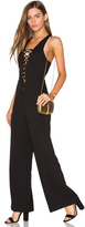 Lucca Couture Lace Up Jumpsuit