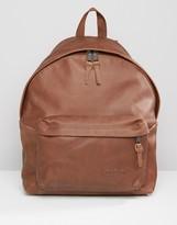 Eastpak Padded Pak'R Leather Backpack