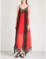 Christopher Kane Layered lace-trim silk-chiffon dress