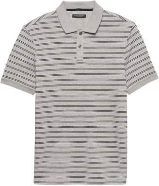 Banana Republic Luxury-Touch Allover Stripe Polo Shirt