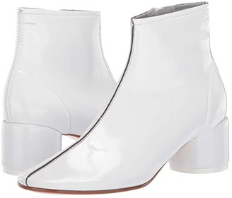 MM6 MAISON MARGIELA Classic Round Low Heel Boot (Bright White) Women's Shoes