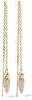 Pamela Love Suspension Gold Diamond Earrings - One size