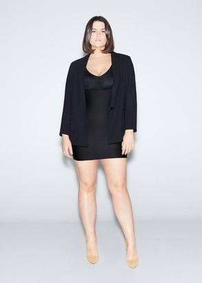 MANGO Violeta BY Shape dress black - 10 - Plus sizes