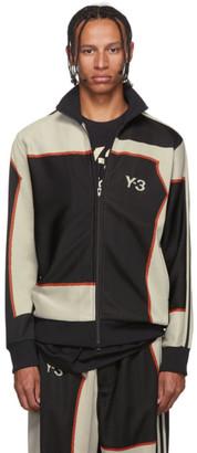 Y-3 Black Colorblock Zip-Up Jacket