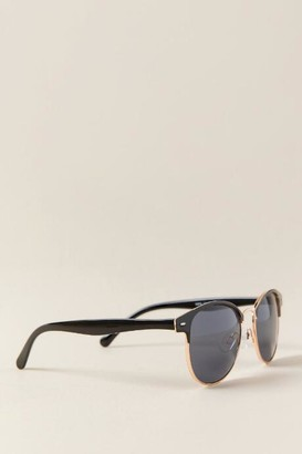 francesca's Clean Slate Club Master Sunglasses - Black