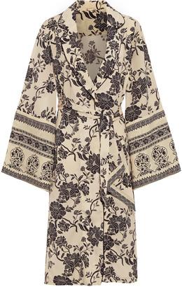 Johanna Ortiz Two Seasons Floral-print Crepe Kimono