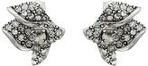 Oscar de la Renta Gradient Crystal Flower Button P Earrings