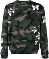 Valentino camouflage mariposa print sweatshirt - men - Cotton/Polyamide - S