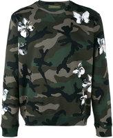Valentino camouflage mariposa print sweatshirt