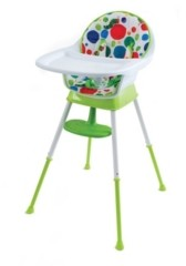Creative Baby The Very Hungry Caterpillar 3-in-1 Convertible High Chair, Playful Dots -