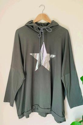 Belle-Modelle - Long Sleeve T Shirt Star Hoody Khaki