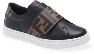 Fendi Kids' FF Logo Low Top Sneaker
