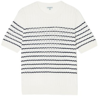 Jigsaw Striped Pointelle Jumper