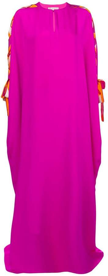 Emilio Pucci lace-up sleeves kaftan dress