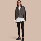 Burberry Two-tone Cashmere Cardigan with Ribbed Detail