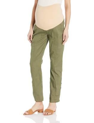 Motherhood Maternity Women's Maternity Roll Hem Secret Fit Belly Convertible Pant