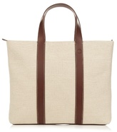 Frescobol Carioca Leather-trimmed Canvas Holdall