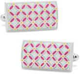 Cufflinks Inc. Men's Light Floral Rectangle Cufflinks