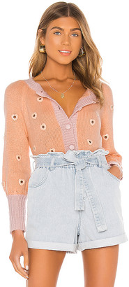 For Love & Lemons Lovejoy Cropped Cardigan