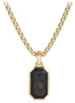 David Yurman Forged Carbon Amulet With 18K Gold
