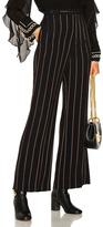 Chloé Lurex Stripe Jacquard Wide Leg Pants in Black,Stripes.