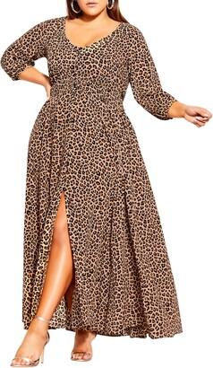 City Chic Cheetah Print Maxi Dress