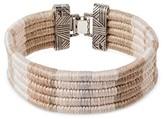 "Wakami Women's Bracelet Cuff- Beige (7.5"")"