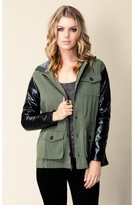 jet by john eshaya PVC Sleeve Army Jacket
