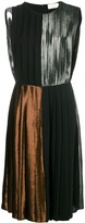 Christopher Kane Panelled Pleated Lame Dress