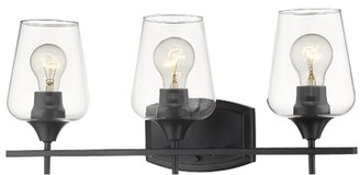 Three Posts Woodway 3-Light Dimmable Vanity Light Finish: Matte Black