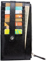 Boshiho Leather Credit Card Case Holder Slim Cell Phone Clutch Purse Wallet