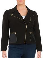 Calvin Klein Plus Plus Asymmetrical Moto Blazer