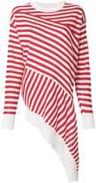 MM6 MAISON MARGIELA striped asymmetric jumper