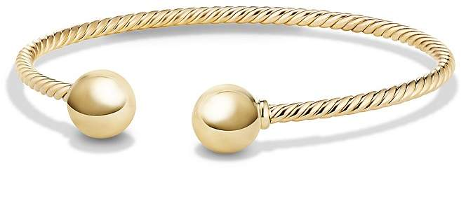 David Yurman Solari Bead Cuff Bracelet in 18K Gold