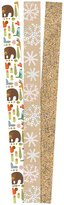 The Gift Wrap Company Golden Glitter Craft and Critters Premium Gift Wrap Paper - Multicolor - 3ct ct