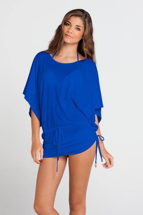 Luli Fama Cosita Buena Cover Ups South Beach Dress in Electric blue (L177968)