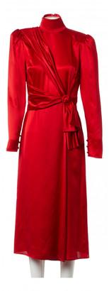 Alessandra Rich Red Silk Dresses