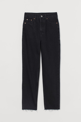 H&M Slim Mom High Ankle Jeans - Black