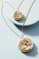 Anthropologie Double Medallion Pendant Necklace