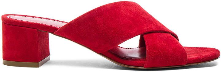 Mansur Gavriel Suede X Strap Heels