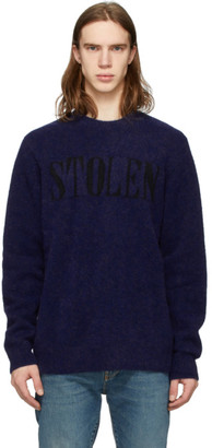 Stolen Girlfriends Club Blue Third Wave Crewneck Sweater