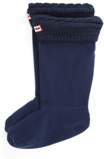 Hunter Short 'Moss' Knit Welly Socks (Toddler, Little Kid & Big Kid)