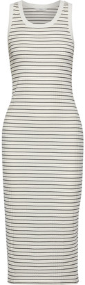 Joie Polymela B Striped Ribbed Jersey Midi Dress