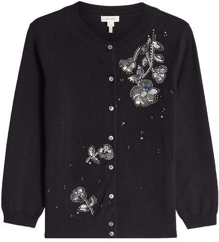 Marc Jacobs Virgin Wool Cardigan with Embellishment